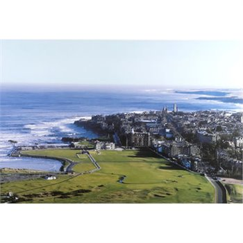 Golf Links To The Past St. Andrews & The Old Course-Aerial View Photo Media