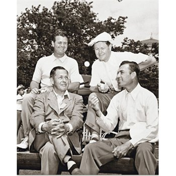 Golf Links To The Past Demaret, Nelson, Jones, & Hogan:  1946 Masters Photo Media