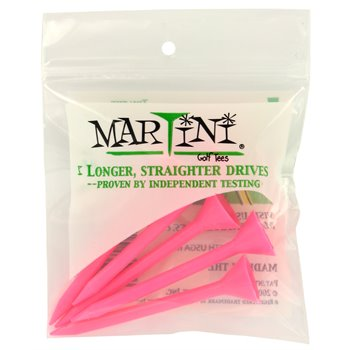Martini 3 1/4 Pink Golf Tees Accessories