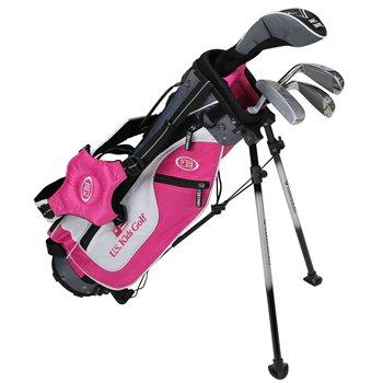 US KIDS U/L 45 Pink/White/Grey Club Set Clubs