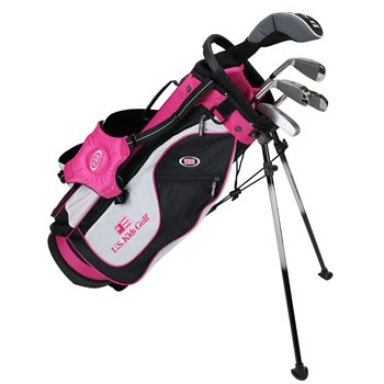 US KIDS U/L 51 Black/White/Pink Club Set Clubs