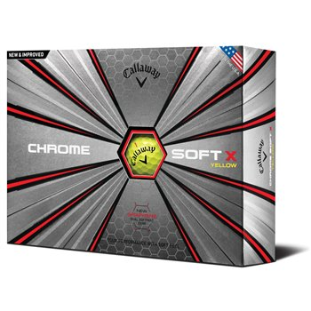 Callaway Chrome Soft X 18 Yellow Golf Ball Balls