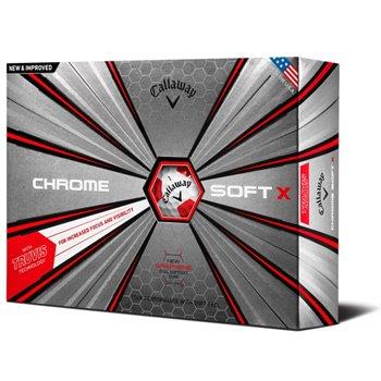 Callaway Chrome Soft X 18 Truvis Red Golf Ball Balls