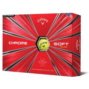 Callaway Chrome Soft 18 Yellow Golf Ball Balls