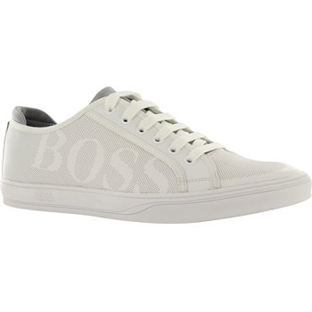 Hugo Boss Attitude Tennis Inspired Leather Sneakers Shoes
