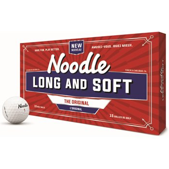 TaylorMade Noodle Long and Soft 2018 15-Pack Golf Ball Balls