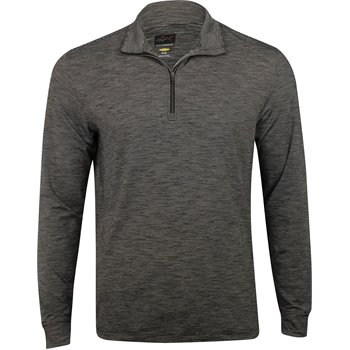 Greg Norman L/S Micro Stripe Heathered ¼ Zip Outerwear Apparel