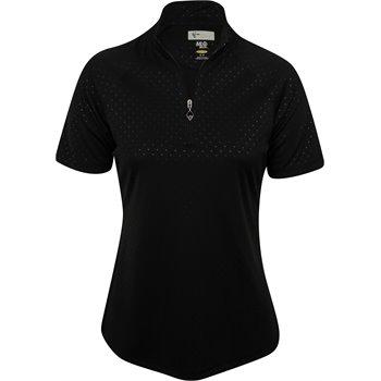 Greg Norman ML75 Diamond Embossed Zip Mock Shirt Apparel