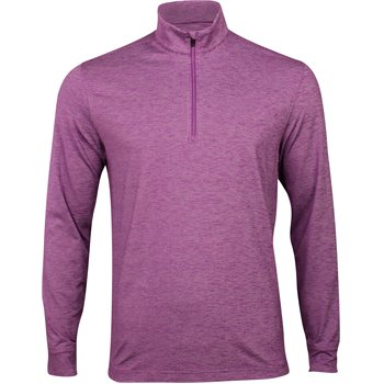 Greg Norman Micro Stripe Heathered ¼ Zip Mock Outerwear Apparel