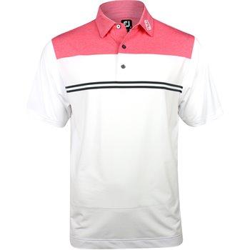 FootJoy Tour Logo ProDry Heather Color Block Lisle Shirt Apparel