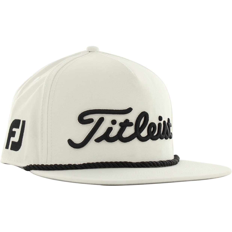 1eb75665f Titleist Tour Rope Flat Bill White Fits All Headwear Cap
