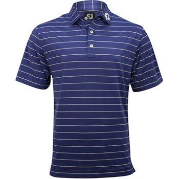 FootJoy Tour Logo ProDry Performance Lisle Double Pinstripe Shirt Apparel