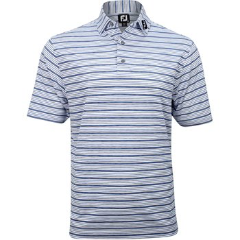 FootJoy Tour Logo ProDry Performance Lisle Space Dye Stripe Shirt Apparel
