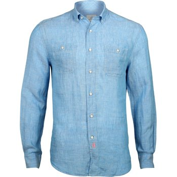 Johnnie-O Hangin Out Mackle Linen Button Down Shirt Apparel
