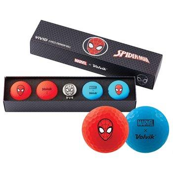 Volvik Vivid Marvel Spider Man Golf Ball Balls