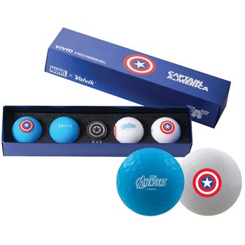 Volvik Vivid Marvel Captain America Golf Ball Balls