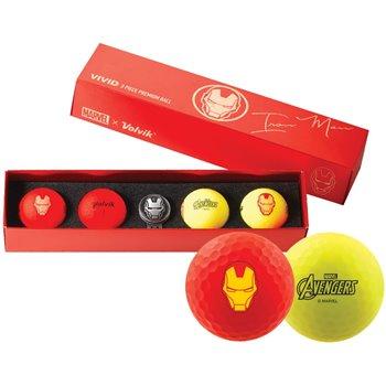 Volvik Vivid Marvel Iron Man Golf Ball Balls