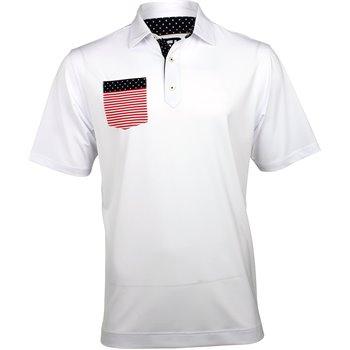 FootJoy Stars & Stripes Limited Edition Lisle Flag Chest Pocket Shirt Apparel