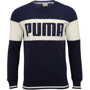 Puma Logo Crew Sweatshirt Outerwear Apparel