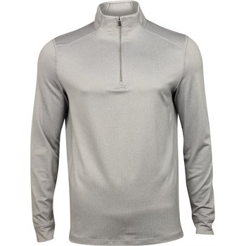 Greg Norman Heathered Herringbone ¼ Zip Mock Outerwear Apparel