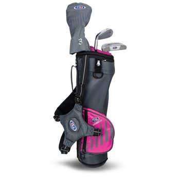 U.S. Kids Golf UL39 3 Club Pink Carry Club Set Clubs